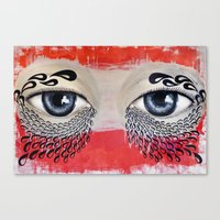 Tears Flow Canvas Print