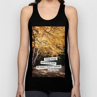 perks of being a wallflower - life doesn't stop for anybody Unisex Tank Top