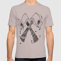 chop some wood Mens Fitted Tee Cinder SMALL