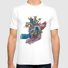 New god makina - Print available!! Mens Fitted Tee SMALL White