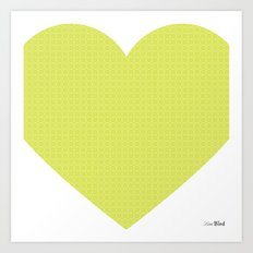 I love you this much... (green) Art Print