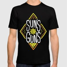 Sun's Out Guns Out Black Mens Fitted Tee SMALL