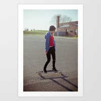 Long Boarding  Art Print