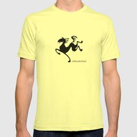 Horse Mens Fitted Tee Lemon SMALL