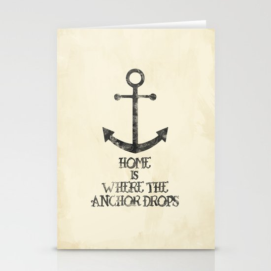Where The Anchor Drops Stationery Card