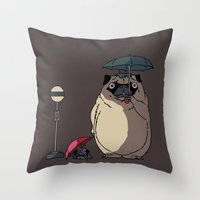 PUGTORO Throw Pillow