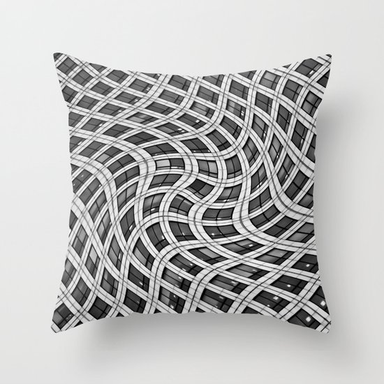 Canary Wharf Windows Throw Pillow