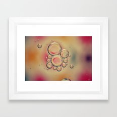 Kaleidoscope: Oil & Water Framed Art Print