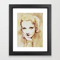 Marlene Dietrich  Framed Art Print