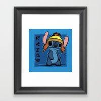 Shiny and Blue Framed Art Print