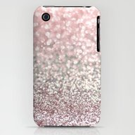 Girly Pink Snowfall iPhone (3g, 3gs) Slim Case