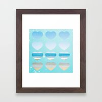 Heart Belongs At The Beach  Framed Art Print