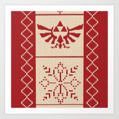 Nerdy Christmas Sweater:… Art Print