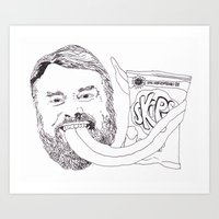 Brian Blessed With Skips Art Print