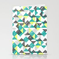 scribble triangles Stationery Cards