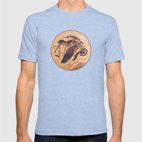 The Snipe Mens Fitted Tee Tri-Blue SMALL