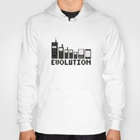 Hoody featuring Cell Phone Evolution by Wersns