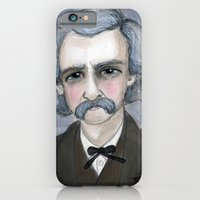 iPhone & iPod Case featuring The Adventures of Mark Twain, A Victorian Writers Portrait by Debra Styer