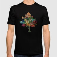 Fall Is Back! Mens Fitted Tee Black SMALL