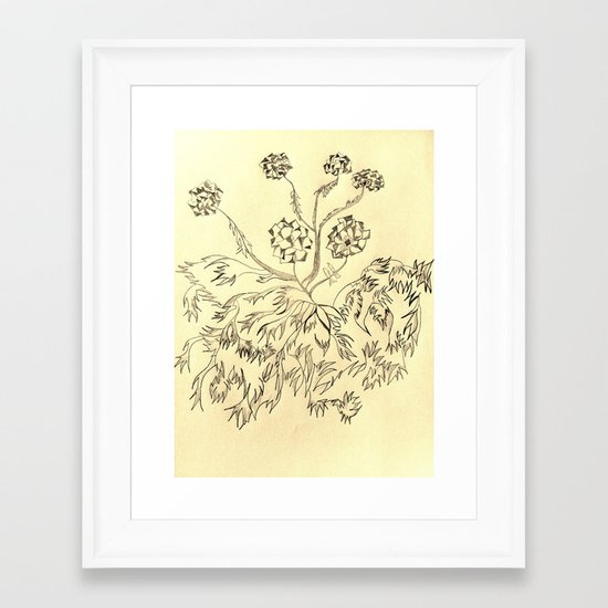 Roots Sepia Framed Art Print