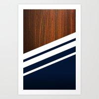 Wooden Navy Art Print