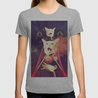 galactic Cats Saga 4 Womens Fitted Tee Athletic Grey SMALL
