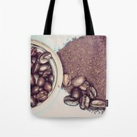 Coffee Beans and Coffee Ground Tote Bag