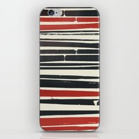 Navy Red Stripes iPhone & iPod Skin