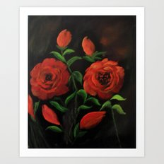 Roses are red my love.. Art Print