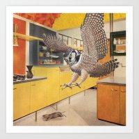 Roomscape Owl Art Print