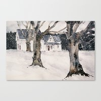 February snow Canvas Print