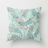 Little Leaves Throw Pillow