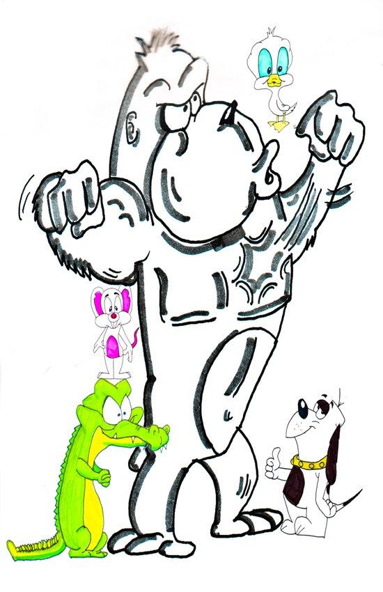Cartoon Friends Art Print