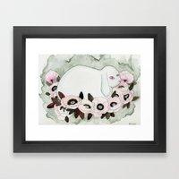 White Rabbit, Pink Poppi… Framed Art Print