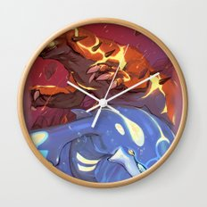 Omega Ruby & Alpha Sapphire Wall Clock