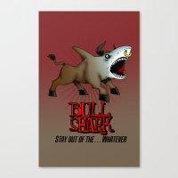 Bull Shark Version 2 Ani… Canvas Print