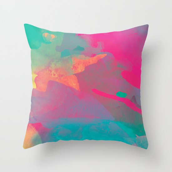 The colors mix Throw Pillow by Msimioni Society6