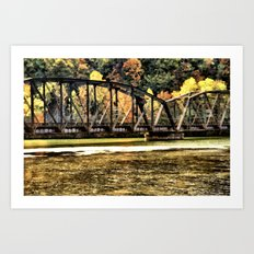 West VA Train Bridge Art Print