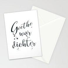 Goethe war dichter Stationery Cards