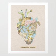 A Traveler's Heart Art Print