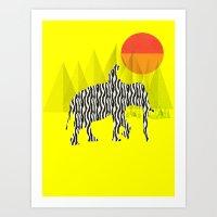 Zelephant - Mahout & Ele… Art Print