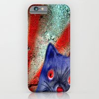 iPhone & iPod Case featuring Gordon The Graffiti Cat by Angela Burman
