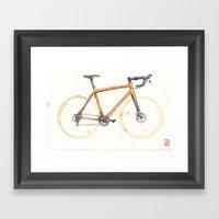 Coffee Wheels - Salsa Warbird Framed Art Print