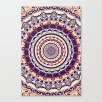 Abstractions in colors (Mandala) Canvas Print