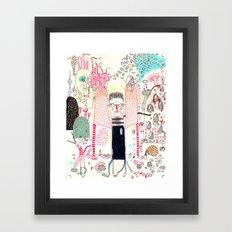 Cafe Stay in  Framed Art Print