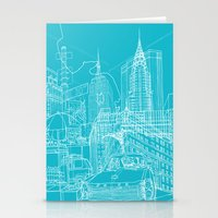 New York! Blueprint Stationery Cards