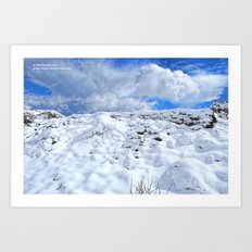 Approaching the Snowy Ruins Art Print