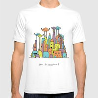 Monster Tower II Mens Fitted Tee White SMALL
