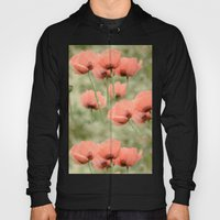 Pink Poppies patterns Hoody