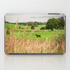 Black horse iPad Case